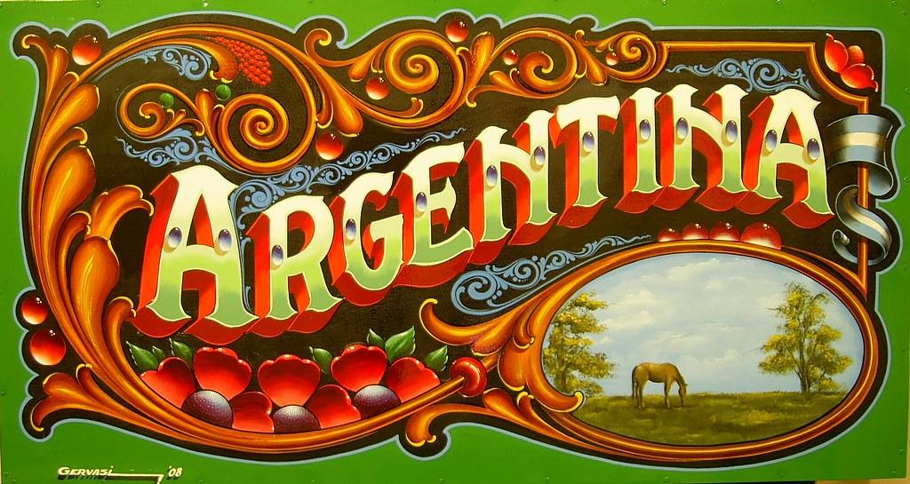 Affiche d'un Fileteado Argentin