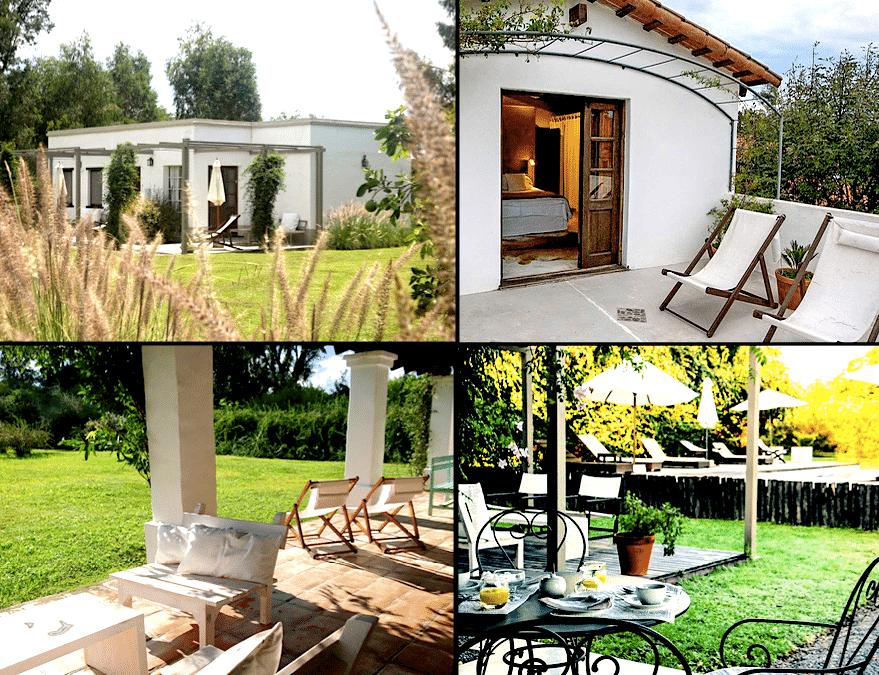 aperçu des jardins, de la maison, du solarium et de la terrasse sous  la pergola.